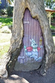 'Door to Wonderland' Street Art                                                                                    |AmazingStreetArt|