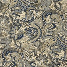 Atlantis Beige Tan Taupe Dark Blue Light Blue White Abstract Geometric Paisley Tapestry Upholstery Fabric by the yard KOVI http://www.amazon.com/dp/B00KAGEBDQ/ref=cm_sw_r_pi_dp_kr92vb195Z85N