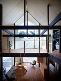 Love the expansive obstruction free interior and the exposed beams and vaulted ceiling.