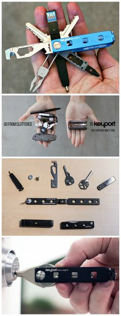 Part key organizer, part Swiss Army knife, part lost & found… the Keyport Pivot replaces your bulky keychain plus a whole lot more. #edc #keychain #multitool