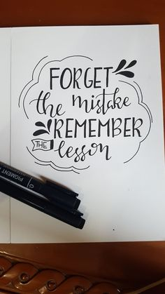 Calligraphy Quotes Doodles, Brush Lettering Quotes, Doodle Quotes, Hand Lettering Quotes, Creative Lettering, Typography Quotes, Calligraphy Watercolor, Copperplate Calligraphy, Learn Calligraphy