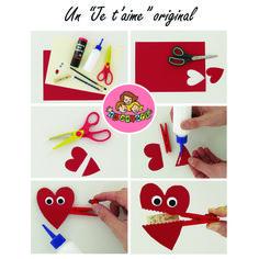 (FR) Transformez une pince à linge en un joli petit cœur qui s'ouvre en 2 pour laisser apparaître un message ! Parfait pour la St Valentin :)  #DIY #Craft #Valentinesday