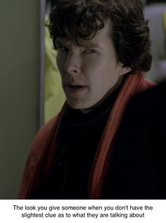 That look... the Sherlock-doesn't-know-what-you're-talking-about-but-he's-pretty-sure-you're-babbling-stupid look.