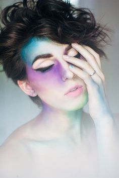 Janelle Putrich Photography / makeup / watercolor / face art / fashion photography / self portrait
