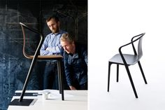 Belleville Armchair by R. & E. Bouroullec for Vtra - The French designers have designed thinking the idea behind the Belleville chair was to create a flexible product, from private to contract through the outdoor version for only plastic shell. Belleville is proposed for a dining room elegant and comfortable. #design #shopdesign #bouroullec #designers