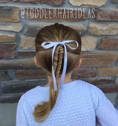 """350 Me gusta, 13 comentarios - Cami 🎀 Toddler Hair Ideas (@toddlerhairideas) en Instagram: """"Today I did 2 ponies connected with my first ever infinity braid! #toddlerhair #toddlerhairideas…"""""""