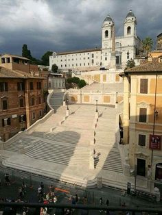 Rome, Italy, the Spanish steps with no one on them?