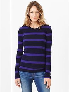 Bowery supersoft stripe crewneck tee - A lightweight layering piece that looks great on its own.