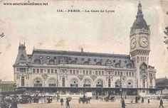 Gare de Lyon in Paris from a postcard postmarked November 21st, 1905.