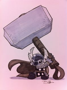 Stitch-Thor...suddenly i want to read thor...
