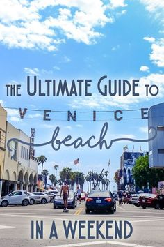 Venice Beach has blossomed into a hip, cultural mecca just a short drive from Central LA. Check out my ultimate guide to Venice Beach for a fun weekend! Venice Beach California, Venice Florida, California Camping, California Vacation, Italy Vacation, Vacation Trips, Southern California, California Tours, San Francisco