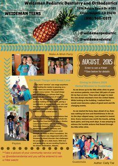 Weideman Teen Newsletter, August 2015, Community Service :-)