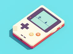 gameboy-like thing by Guillaume Kurkdjian - Dribbble Isometric Art, Isometric Design, Motion Design, Game Design, Web Design Mobile, Design Responsive, Vector Game, 8bit Art, Modelos 3d
