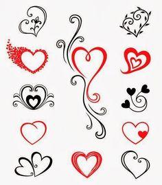 Heart tattoo stencils