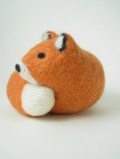 Curled Fox Needle Felted Wool Sculpture by Woolnimals on Etsy