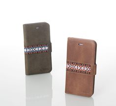 liberosystem Folio case2 iphone case -Card & cash slots -Magnetic closure -Mixing a trendy color and textile