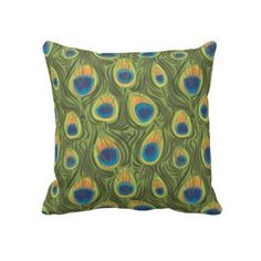 pillow- peacock style!