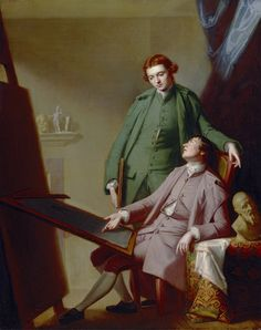 George Romney - A Conversation (The Artist's Brothers: Peter and James Romney)