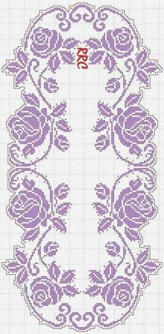 Crochet Bedspread Pattern, Crochet Table Runner Pattern, Crochet Edging Patterns, Filet Crochet Charts, Crochet Curtains, Cross Stitch Patterns, Crochet Borders, Crochet Squares, Cross Stitches