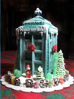 the ginger bread is blue!