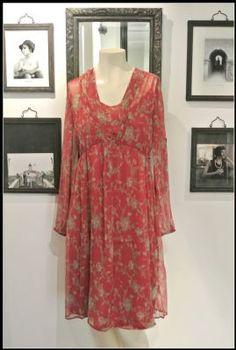 Noa Noa L'essential Chiffon Dress 1-2923-2 in Berry £79
