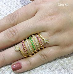 Gold Ring Designs, Gold Earrings Designs, Gold Jewellery Design, Gold Rings Jewelry, Silver Jewellery, Indian Jewelry, Wedding Ring, Wedding Jewelry, Full Finger Rings