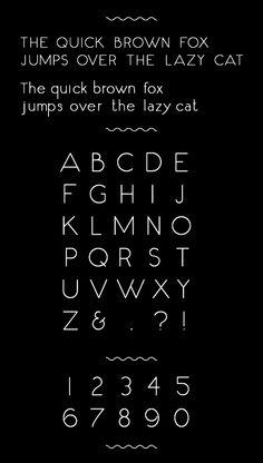 Fox & Cat Typeface by Jo Aguilar, via Behance
