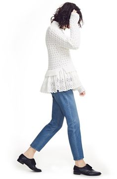 Rebecca Taylor Turtleneck & La Vie Rebecca Taylor Jeans Outfit with Accessories available at #Nordstrom