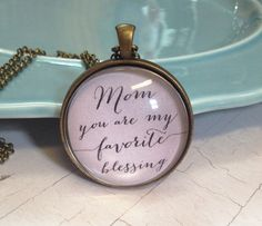 Mom Necklace Quote Necklace Gift for Mom Quote Pendant by MinMac