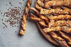 Pic: Bread Sticks with seeds close up