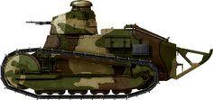 "Polish FT17. Polish Renault ""Lis"" from the 1st Tank Regiment, Puk Czolgow."