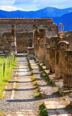 Ruins of Pompeii, Campania, Italy.