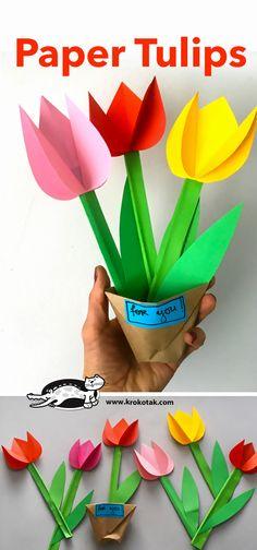 [공유] 종이 튤립 만들기, 튤립 종이접기 해보세요. : 네이버 블로그
