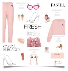 """""""Casual Elegance"""" by lidia-solymosi ❤ liked on Polyvore featuring Miu Miu, Kith, Christian Louboutin, Iosselliani, Nach, Gucci, Burberry, Too Faced Cosmetics and LunatiCK Cosmetic Labs"""