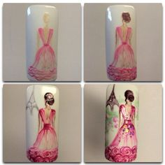 Having short nails is extremely practical. The problem is so many nail art and manicure designs that you'll find online Beautiful Nail Designs, Cute Nail Designs, Love Nails, Pretty Nails, Uñas One Stroke, Romantic Nails, Vintage Nails, Nail Art Galleries, Nail Tutorials