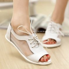 Free shipping new 2014women summer sandal wedge heels 2014 summer  increased influx of teenage students in the mesh  flat shoes $28.90