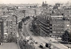 Schiedam, BK laan richting Rubensplein 1967
