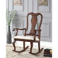 Sheim and Cherry Wood Rocking Chair