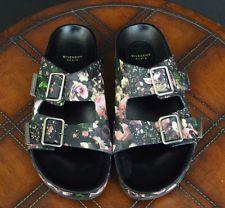 GIVENCHY Floral Print Double Buckle Sandals, Sz IT39