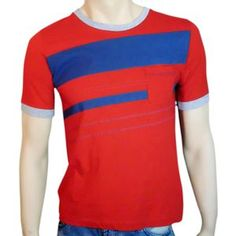 Pocket Stripes Red, $20, now featured on Fab.