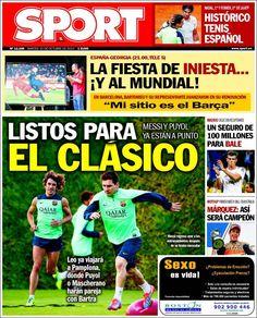 Los Titulares y Portadas de Noticias Destacadas Españolas del 15 de Octubre de 2013 del Diario Sport ¿Que le pareció esta Portada de este Diario Español?