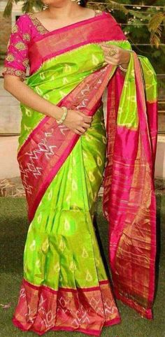 56fd528141cf94 14 Best Pure Ikat Silk Sarees images