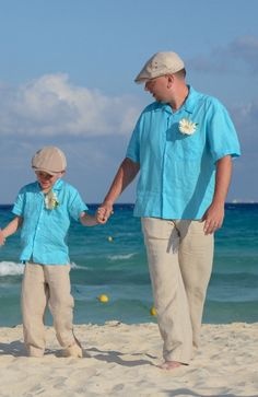 2918fb6c Father and Son LINEN TURQUOISE SHIRT by ABY'S KIDS White Linen Shirt, Linen  Shirts,