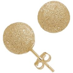 Gioelli Gioelli 14k Gold 8mm Laser Cut Ball Stud Earrings (105 CAD) ❤ liked on Polyvore featuring jewelry, earrings, gold stud earrings, ball stud earrings, 14 karat gold jewelry, gold ball earrings and gold earrings