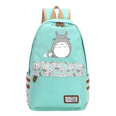 62540bf40259 Totoro Anime Backpack w  Flowers (18