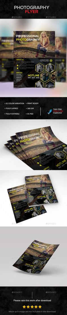 Photography Flyer — Photoshop PSD #magazine #family • Available here → https://graphicriver.net/item/photography-flyer/14324699?ref=pxcr