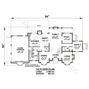 Fells Manor 56523 - Traditional Home Plan at Design Basics