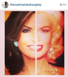 Actress Mariska Hargitay posted this pic of herself on Instagram: Side by side with her mother, the late Jayne Mansfield, the resemblance is amazing.