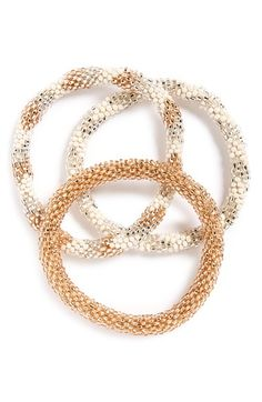 Aid Through Trade Roll-On® Beaded Stretch Bracelets (Set of 3)