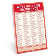 Naughty Checklist as Valentines Day gifts for him